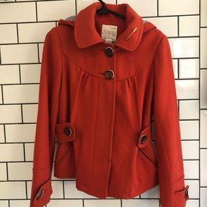 Very cute Anthropologie red wool jacket! Size 6